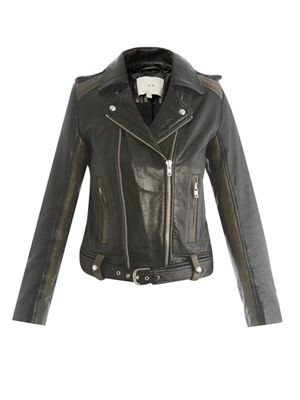Sallie leather biker jacket