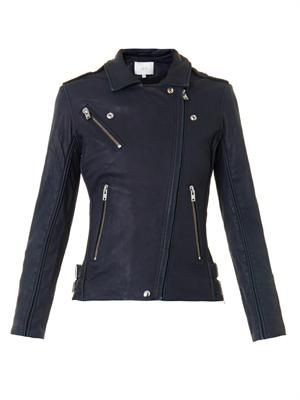 Tara leather biker jacket