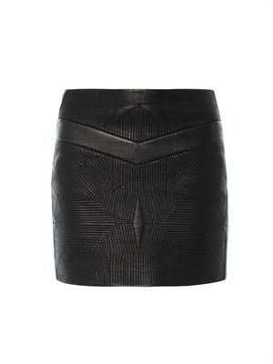Flora leather skirt