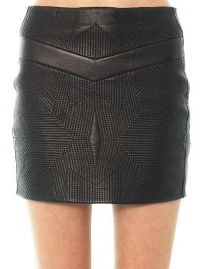 Iro Flora leather skirt