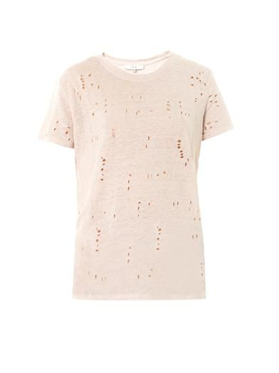 Iro Clay hole distressed T-shirt