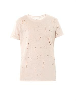 Clay hole distressed T-shirt