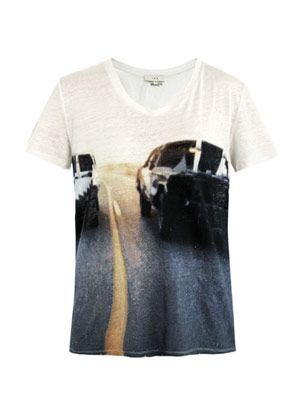 Bridger car-print linen T-shirt