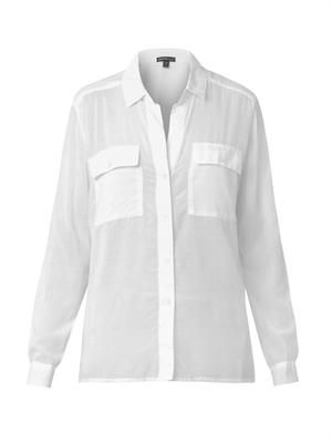 Cotton and silk-blend shirt