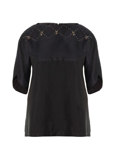Thakoon Addition Embellished contrast blouse