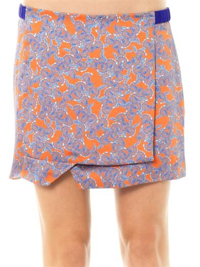 Thakoon Addition Floral print wrap skirt