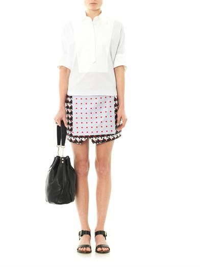 Thakoon Addition Printed wrap-front skirt