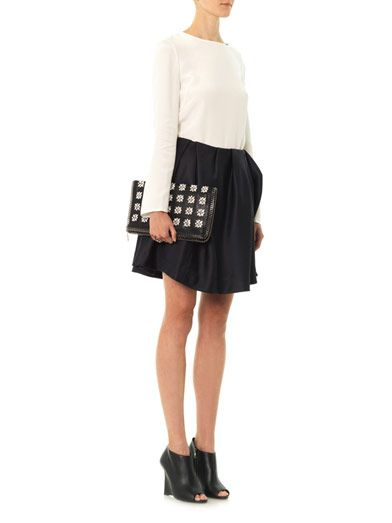 Thakoon Addition Gathered front mini skirt