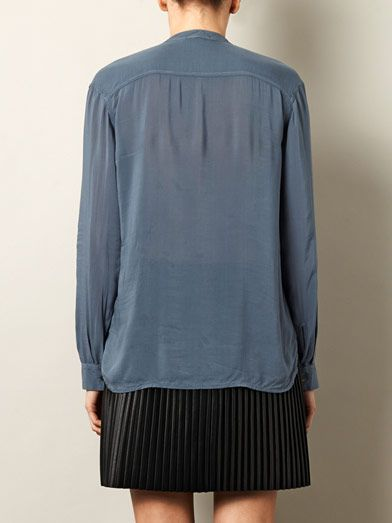 James Perse Viscose chiffon pocket shirt