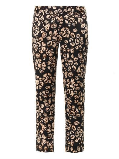 Thakoon Addition Jewel-print straight-leg trousers