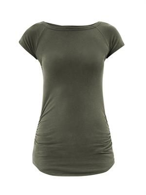 Capped-sleeve T-shirt