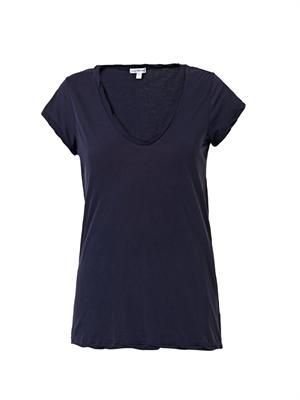 Scoop-neck T-shirt