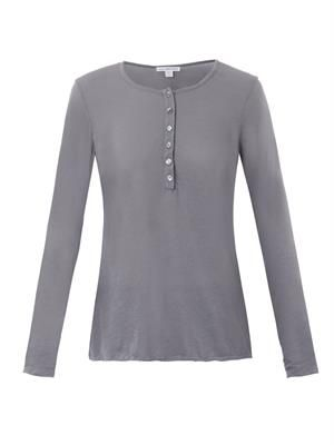 Long-sleeved fine-jersey T-shirt