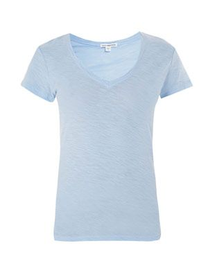 Sheer slub T-shirt