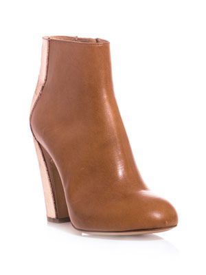 Bi-colour heel ankle-boots