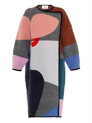 Clemence oversized patchwork coat