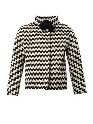 Petula zigzag-jacquard jacket