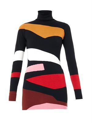 Elise abstract-intarsia sweater