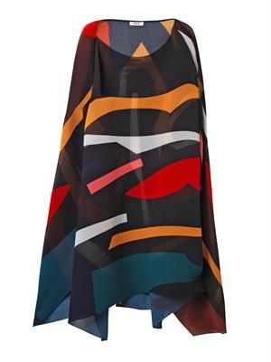 Suzanne sunray-pleated poncho