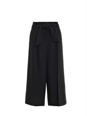 Judy cropped wool-blend trousers