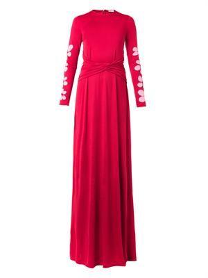 Anne silk-jersey gown