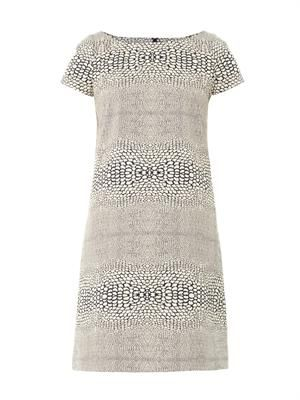 Snake-jacquard shift dress