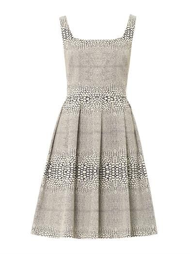 Issa Jacquard square-neck dress