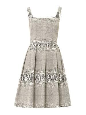 Jacquard square-neck dress