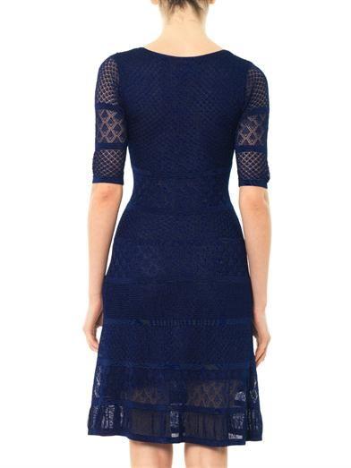 Issa Pointelle stripe dress