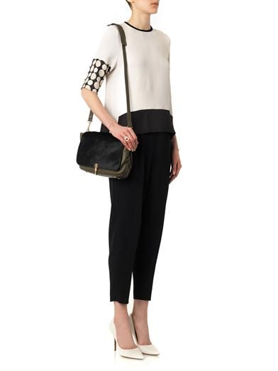 Issa Sara contrast-panel blouse