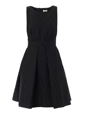 Ripple jacquard dress