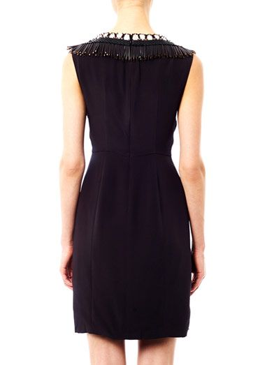 Issa Embellished neckline fitted dress