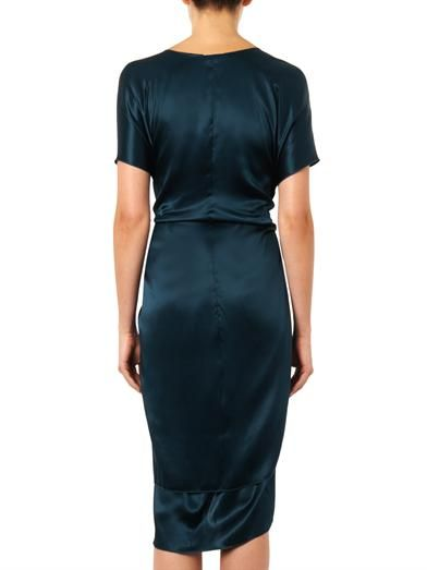 Issa Lizzie silk-satin dress