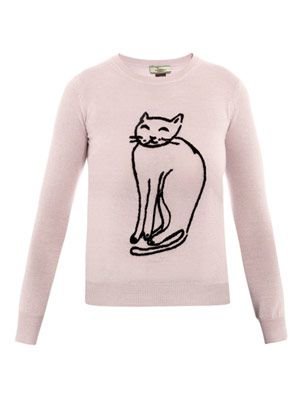 Cat wool sweater
