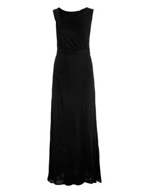 Dondi jersey gathered gown
