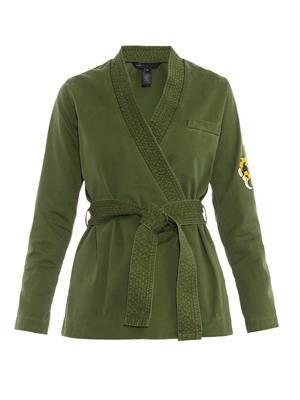 Karate-style wrap-front jacket