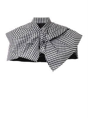 Gingham bow cape