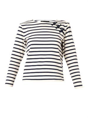 Breton stripe cotton-jersey top