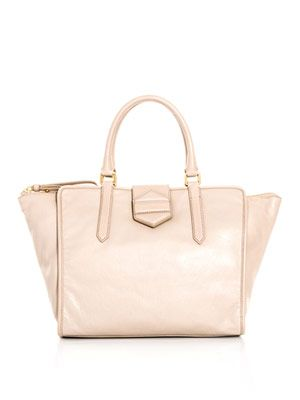Flipping Out leather tote