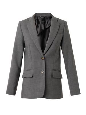 Single-breasted cady blazer