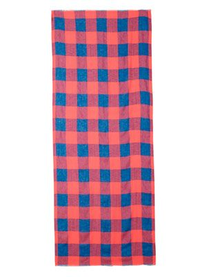 Stacey check scarf
