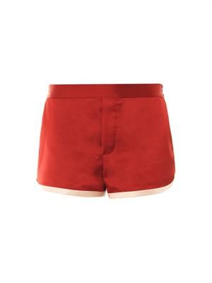 Washed satin shorts
