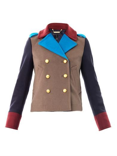 Marc by Marc Jacobs Nicoletta colour-block peacoat