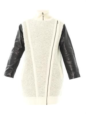 Nessi leather sleeve coat