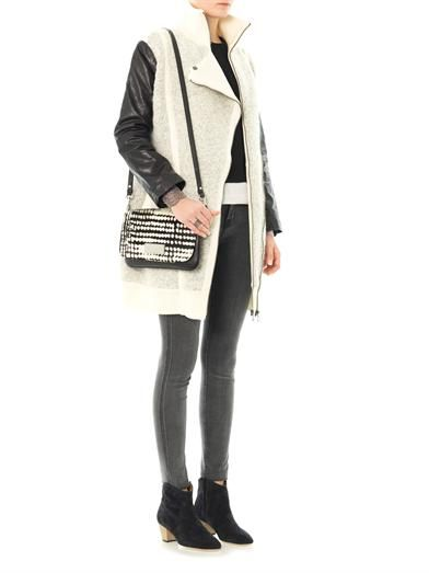 Marc by Marc Jacobs Nessi leather sleeve coat