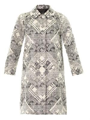 Lamé embroidered dress coat