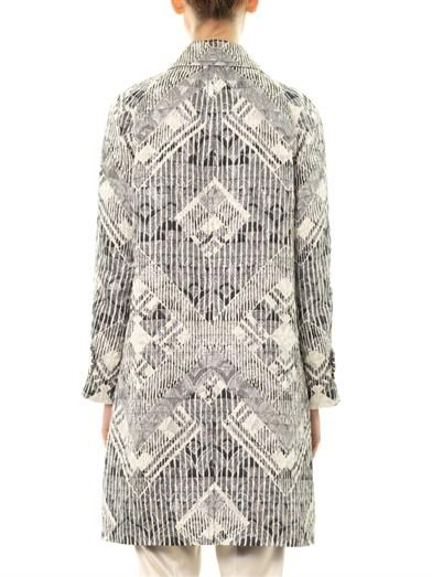 Marc by Marc Jacobs Lamé embroidered dress coat