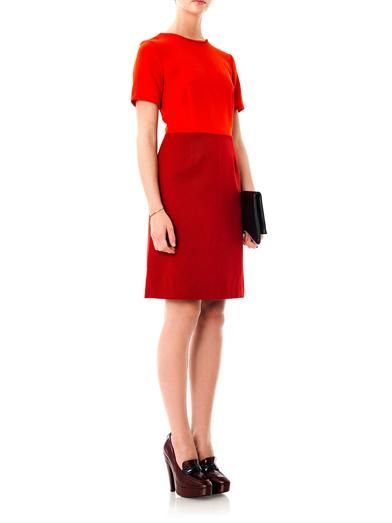 Marc by Marc Jacobs Bi-colour wool dress