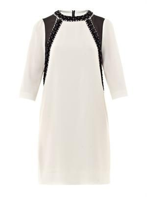 Kisa embellished crepe dress