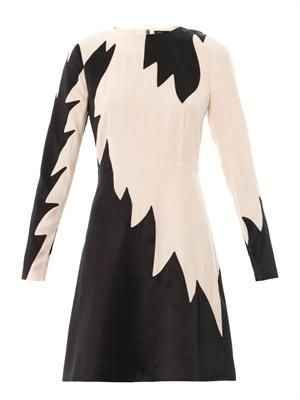 Bi-colour flame shift dress